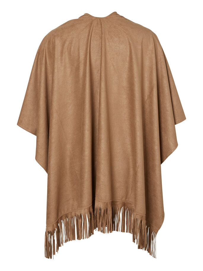 WILDLEDER LOOK PONCHO, Tobacco Brown, large
