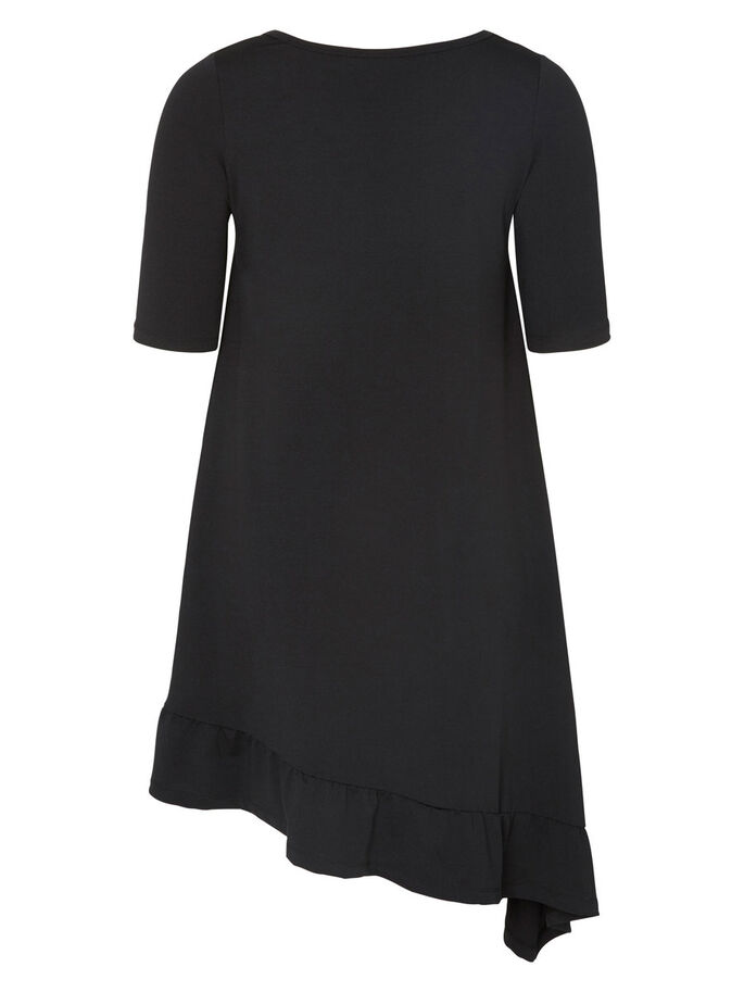 JERSEY DRESS, Black, large