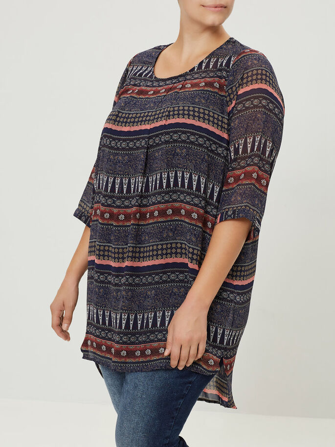 LOOSE TUNIC, Black Iris, large