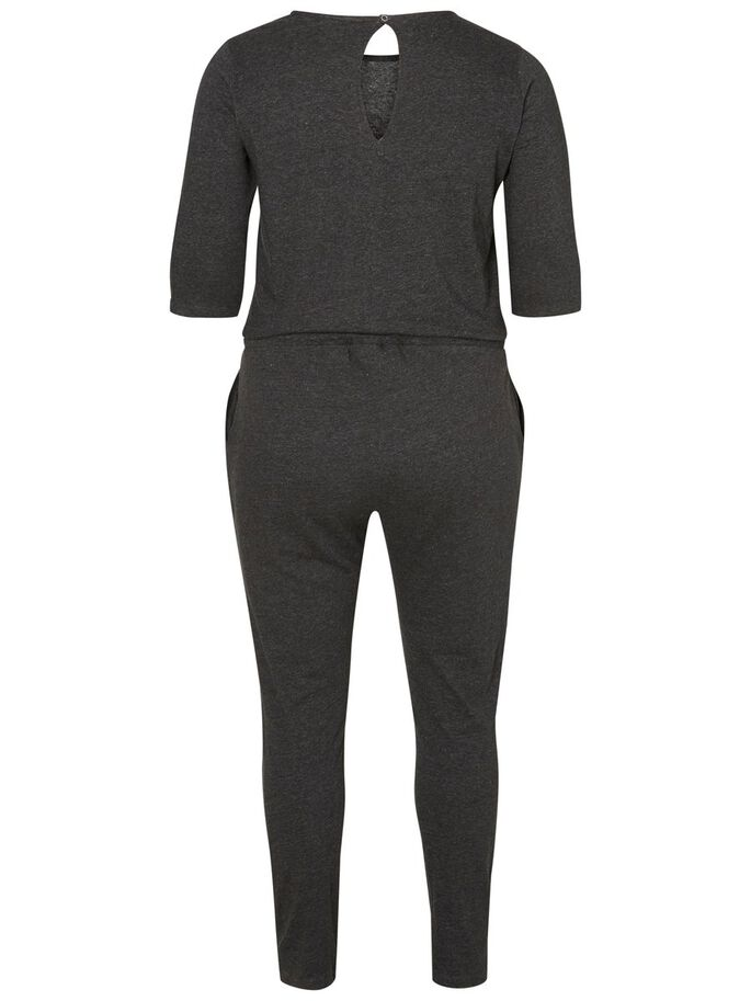 3/4-ÄRMAD JUMPSUIT, Dark Grey Melange, large