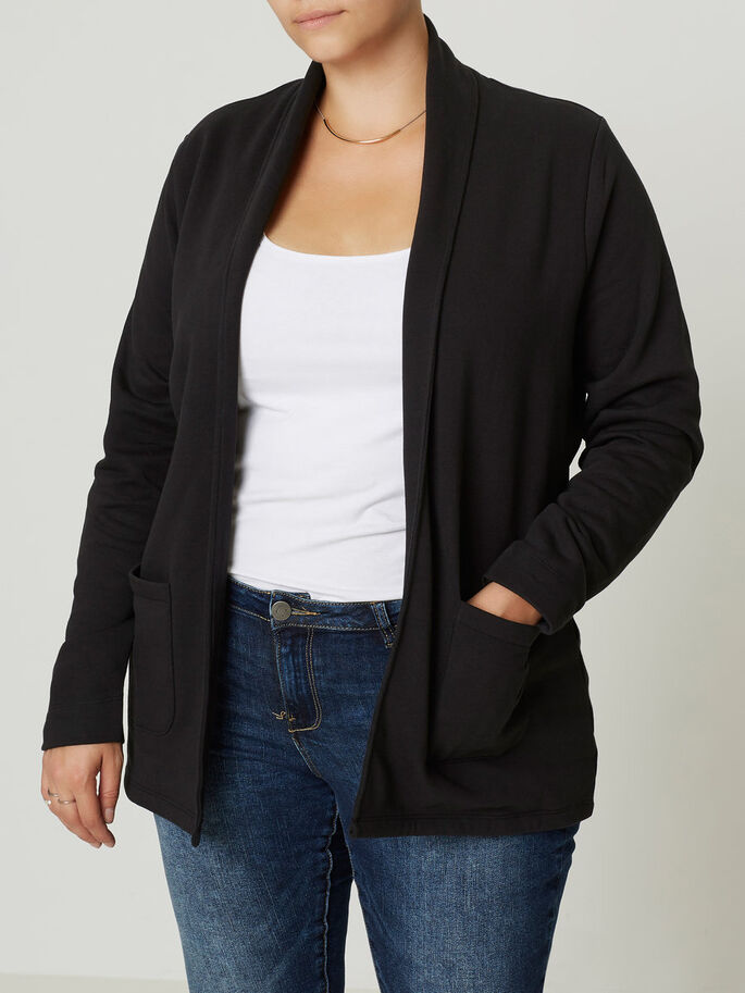 JERSEY- BLAZER, Black, large