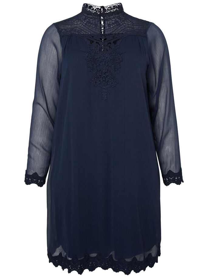 LONG SLEEVED DRESS, Black Iris, large