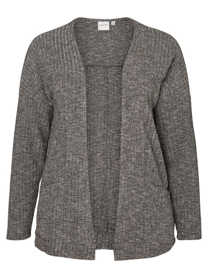 LANGE MOUW VEST, Medium Grey Melange, large