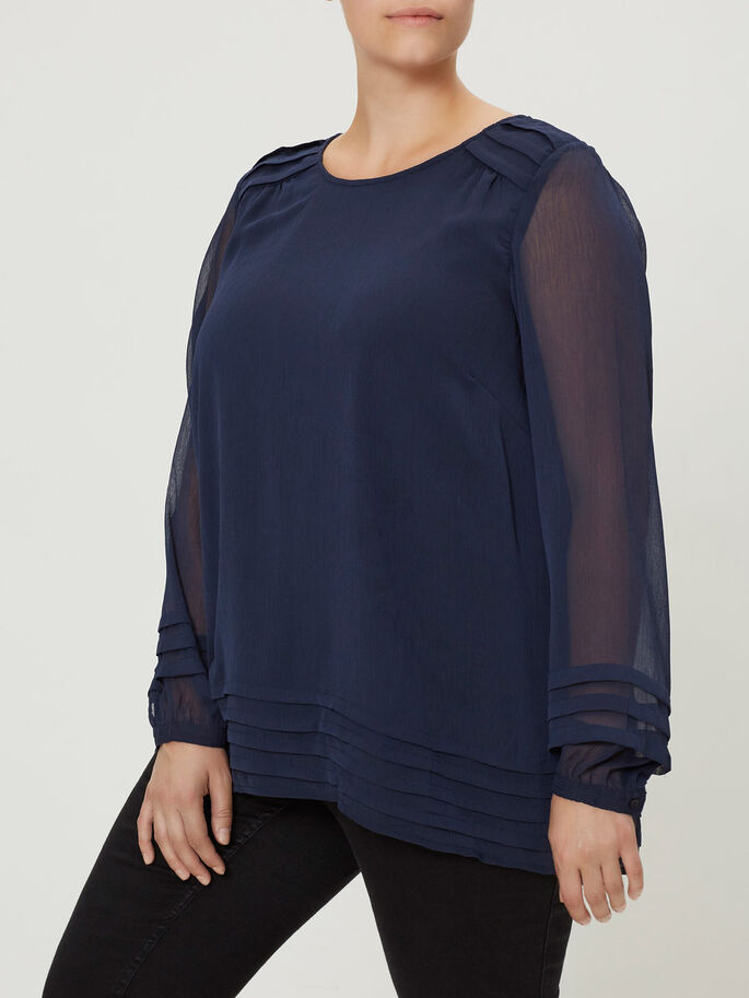 LOOSE BLOUSE, Black Iris, large