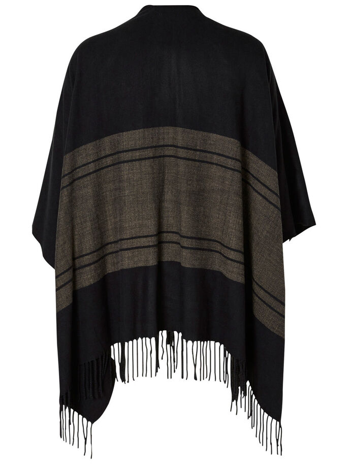 LOOSE PONCHO, Black, large