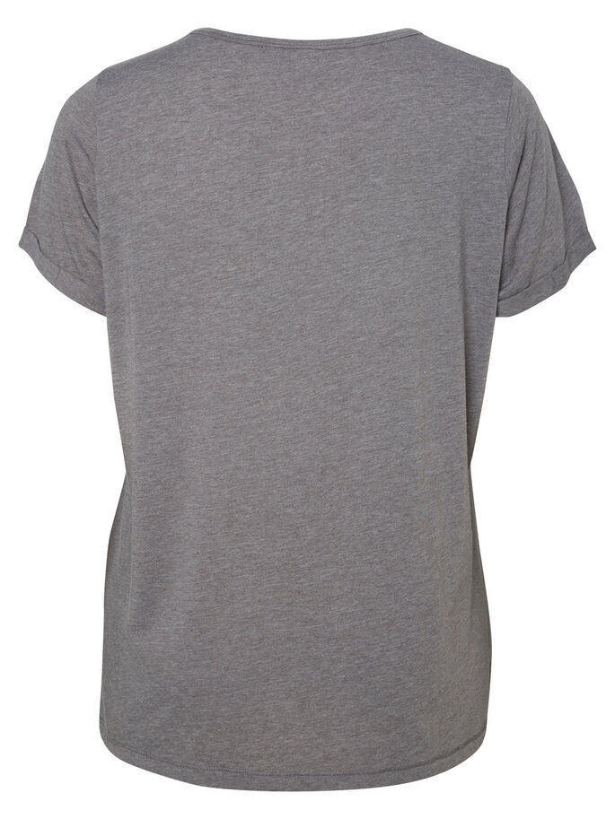 KURZÄRMELIGES T-SHIRT, Medium Grey Melange, large