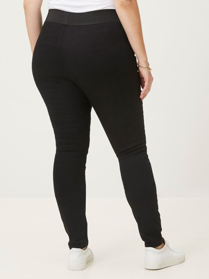 SKINNY JEANS, Black, large
