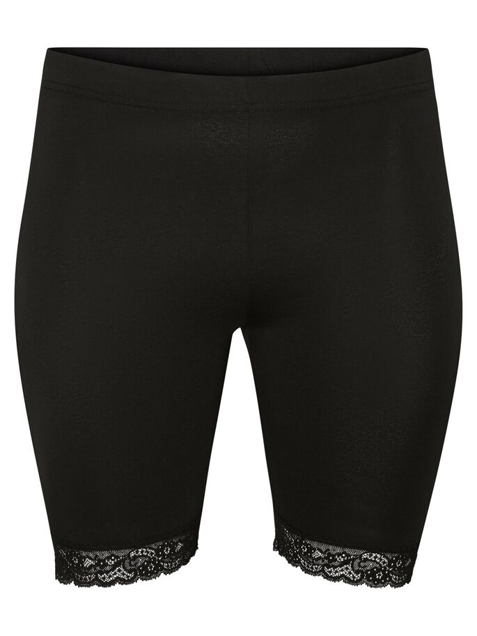 SLIM FIT SHORTS, Black, large