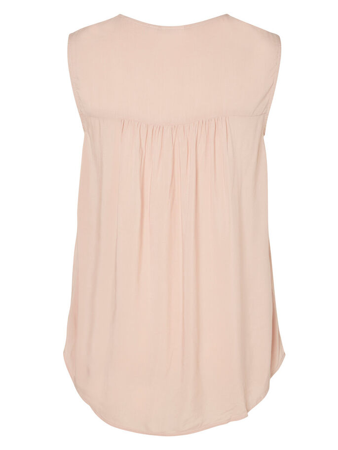 WOVEN SLEEVELESS TOP, Misty Rose, large
