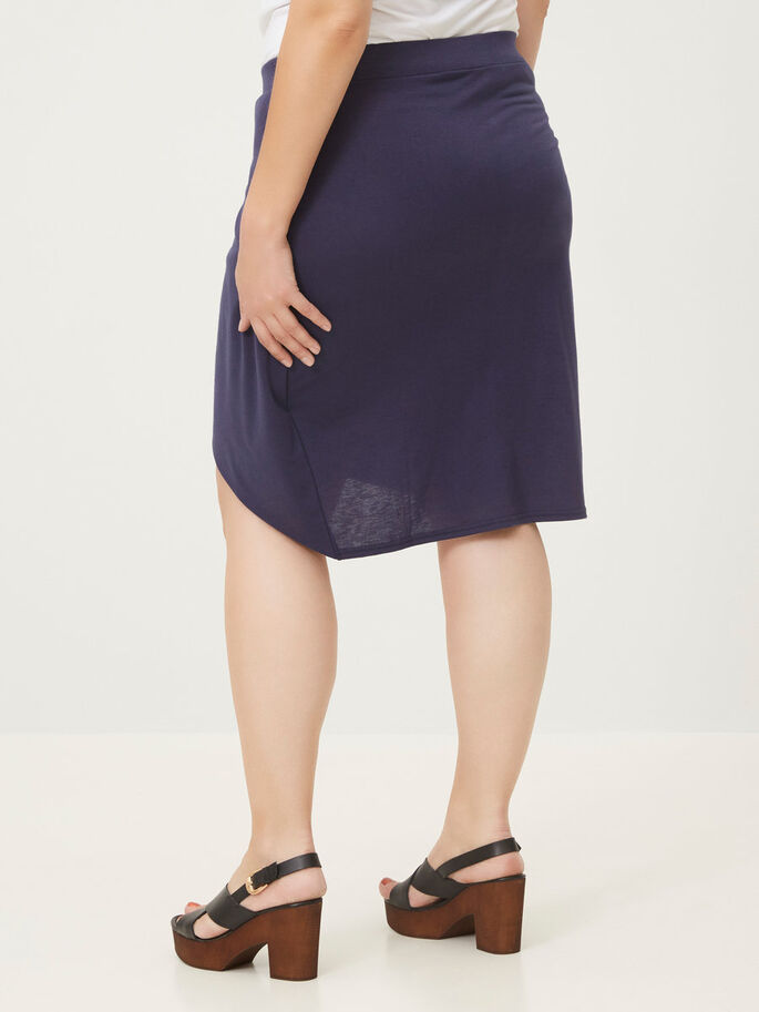 JERSEY SKIRT, Black Iris, large