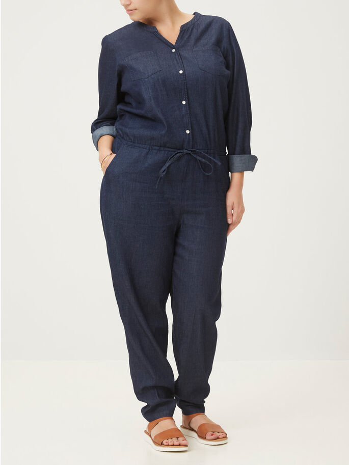 LONG SLEEVED JUMPSUIT, Black Iris, large