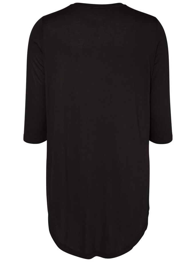 HIGH-LOW BLOUSE, Black, large
