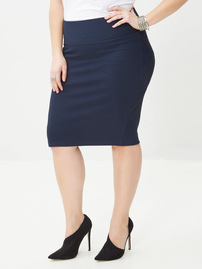 PENCIL SKIRT, Black Iris, large