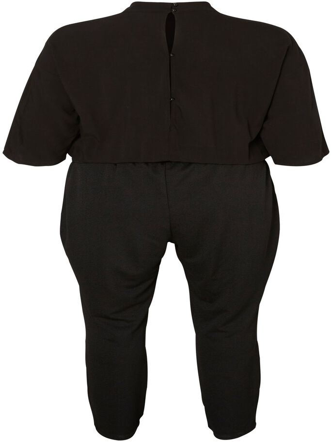 3/4 ERMET JUMPSUIT, Black, large