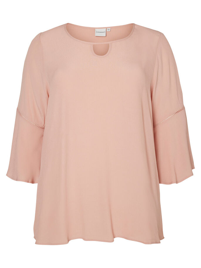 3/4 SLEEVED BLOUSE, Misty Rose, large