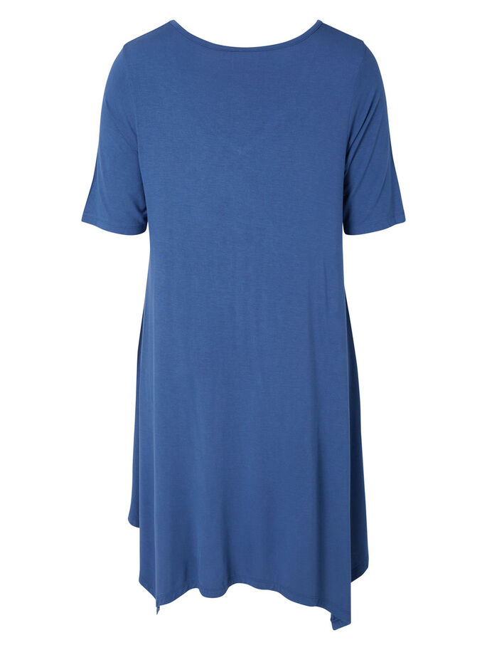 2/4 SLEEVED DRESS, True Navy, large