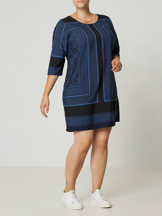 MANCHES 3/4 ROBE, True Navy, large