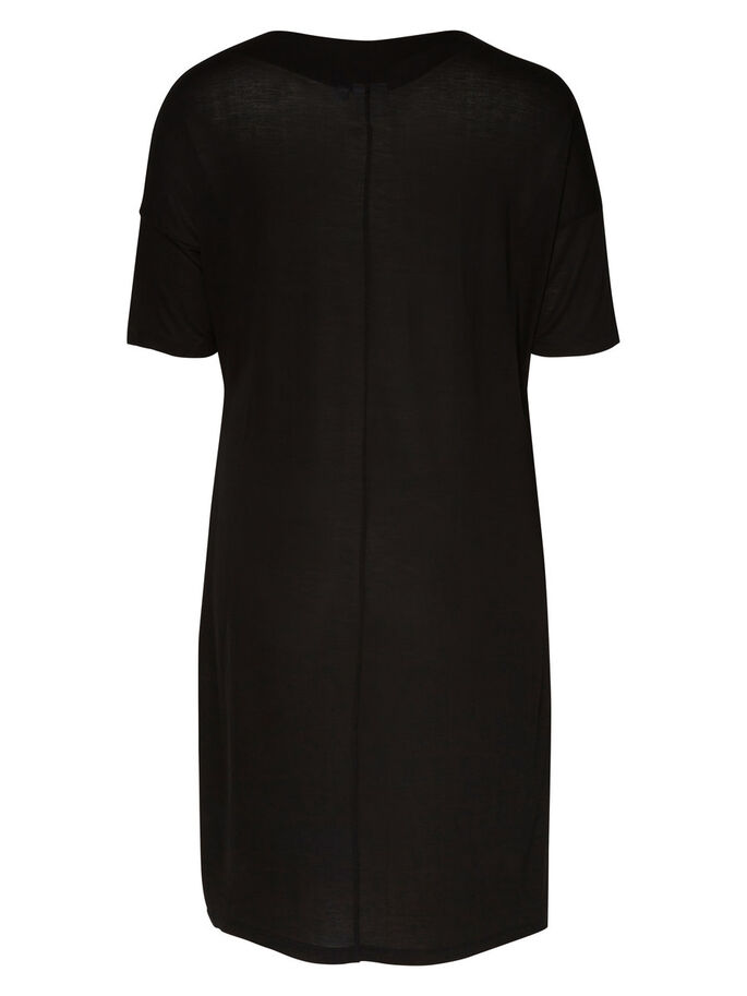 JERSEY- KLEID, Black, large