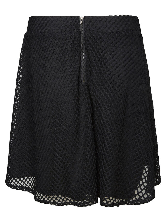 WOVEN SKIRT, Black, large