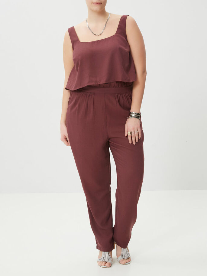 SLEEVELESS JUMPSUIT, Vineyard Wine, large