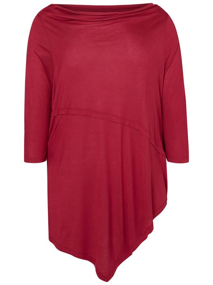 LONG BLOUSE, Beet Red, large