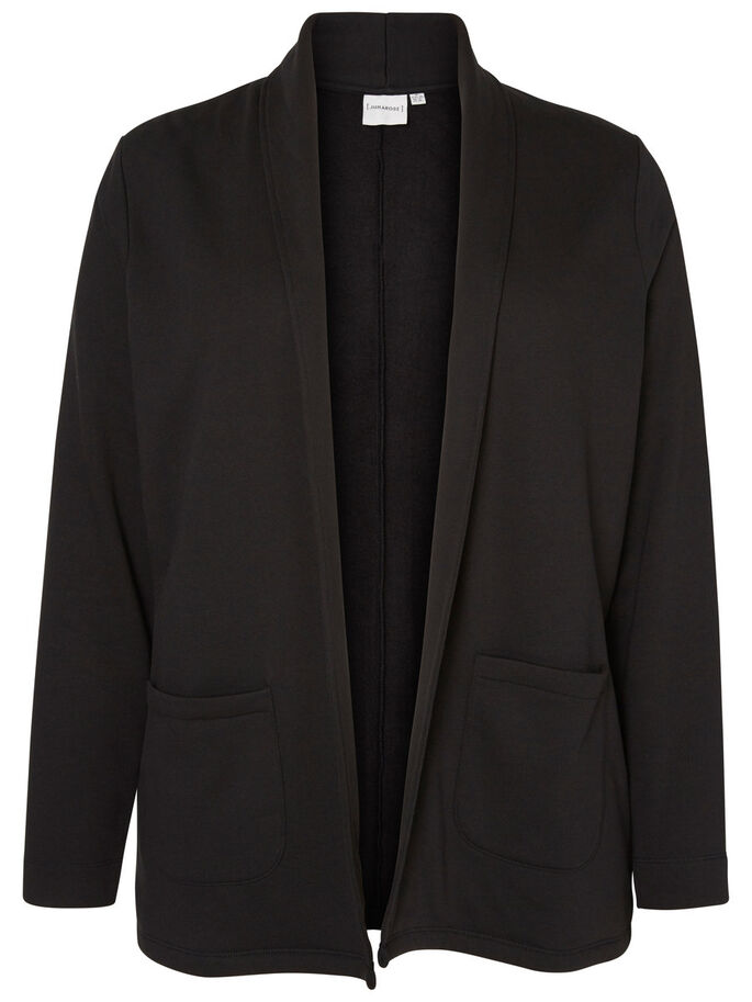 JERSEY BLAZER, Black, large