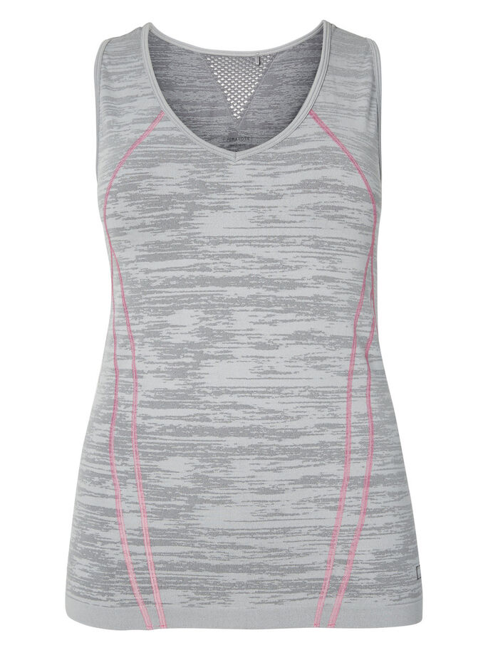 SPORT- OBERTEIL OHNE ÄRMEL, Medium Grey Melange, large