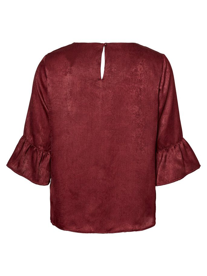 FEMININE 3/4 SLEEVED BLOUSE, Zinfandel, large