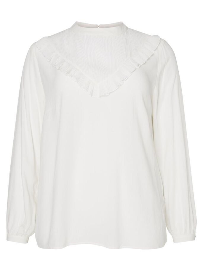 LANGE MOUW BLOUSE, Snow White, large