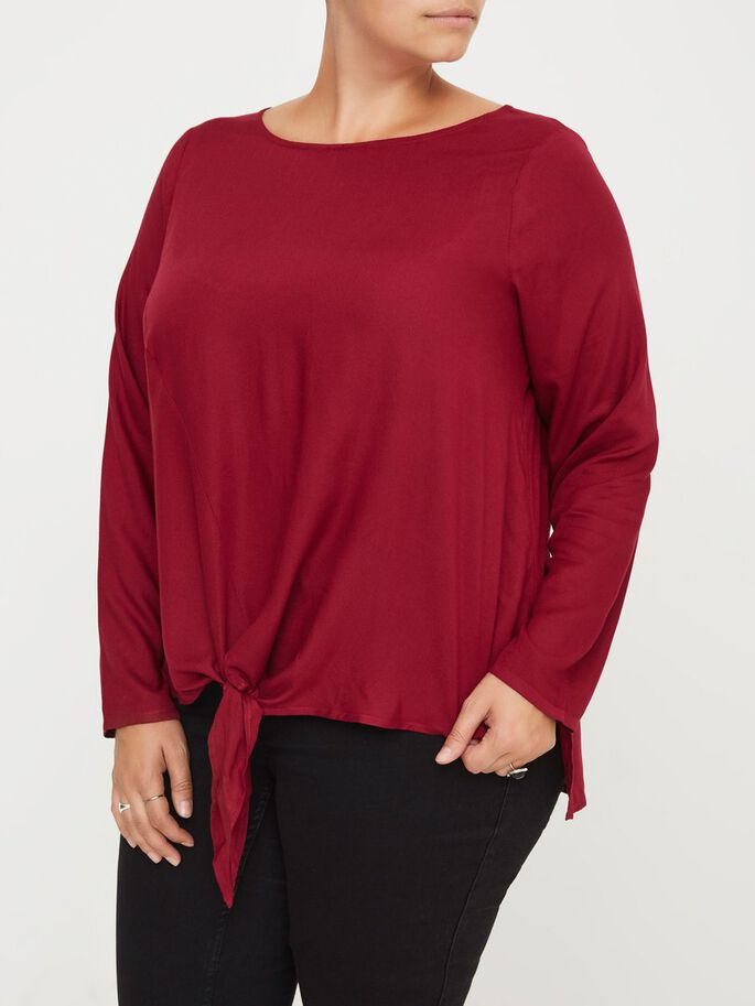 MANCHES LONGUES BLOUSE, Beet Red, large