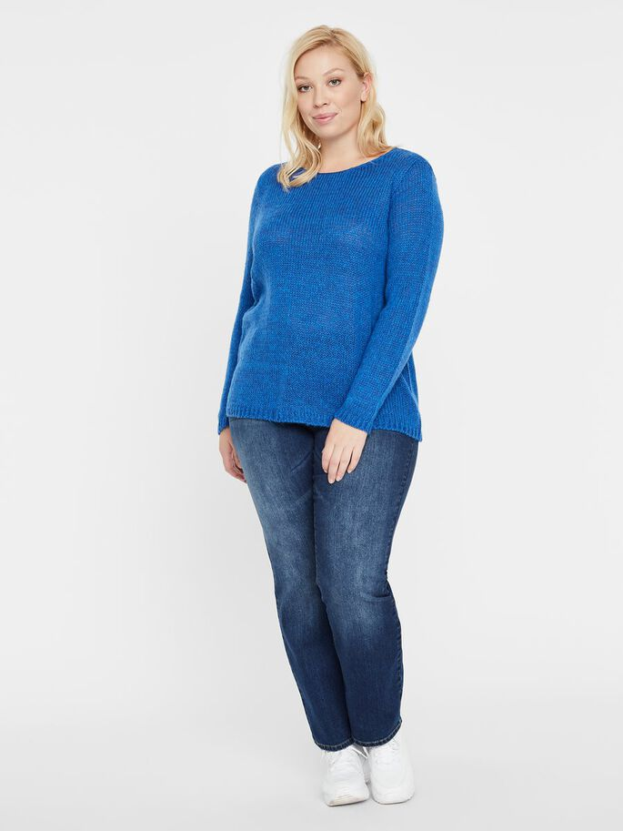 MAILLE PULLOVER, Monaco Blue, large
