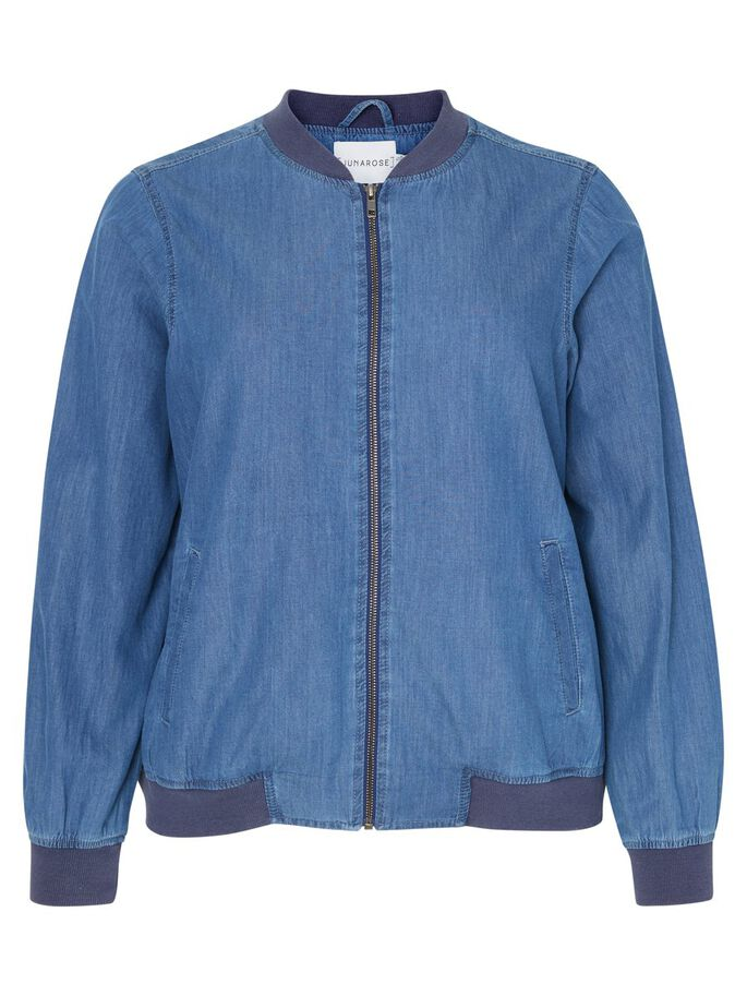 LONG SLEEVED JACKET, Medium Blue Denim, large