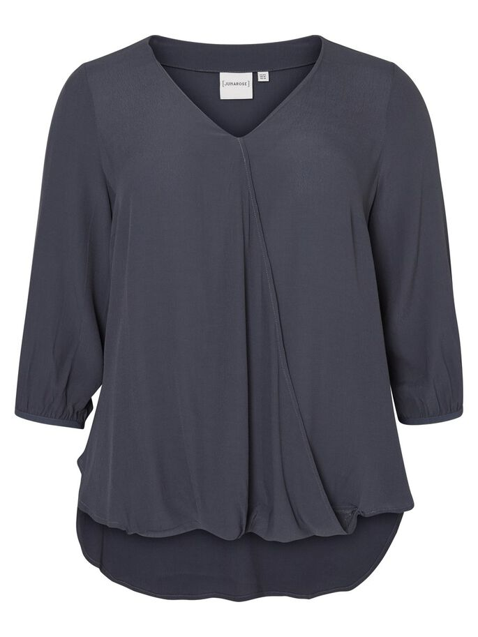 3/4-MOUW BLOUSE, Ombre Blue, large
