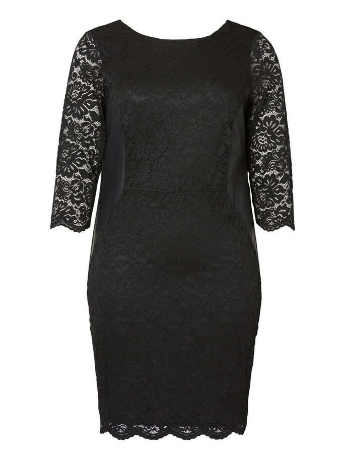 WOVEN DRESS, Black, large
