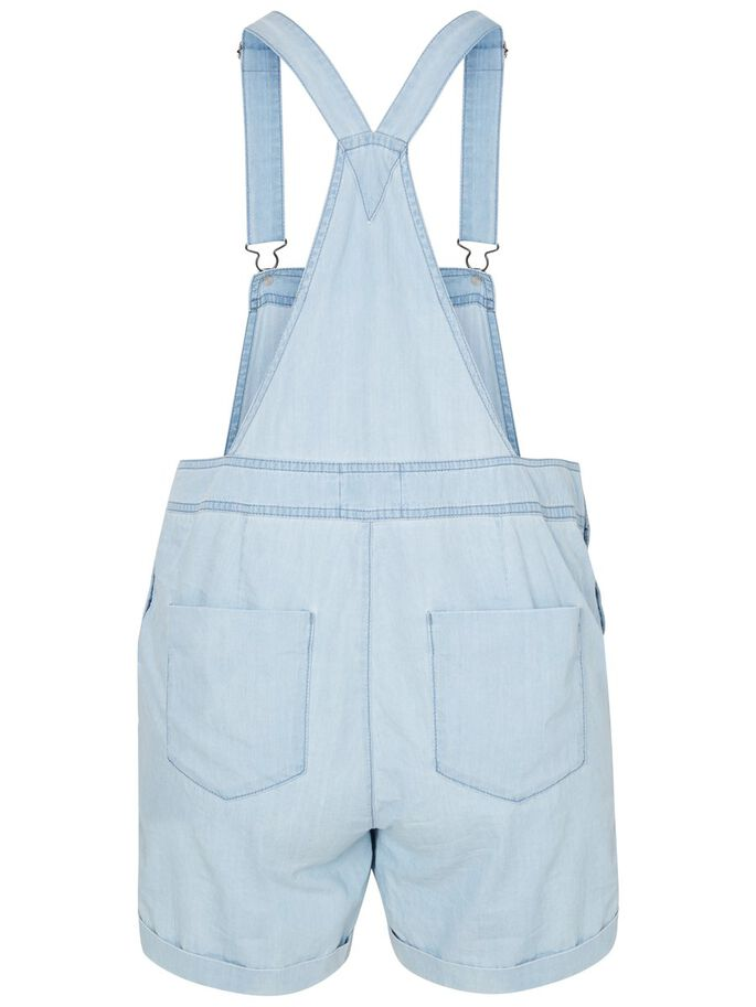 SHORTS DUNGAREES, Light Blue Denim, large