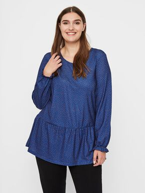 02553393fe2 PLUS SIZE. DOTTED BLOUSE