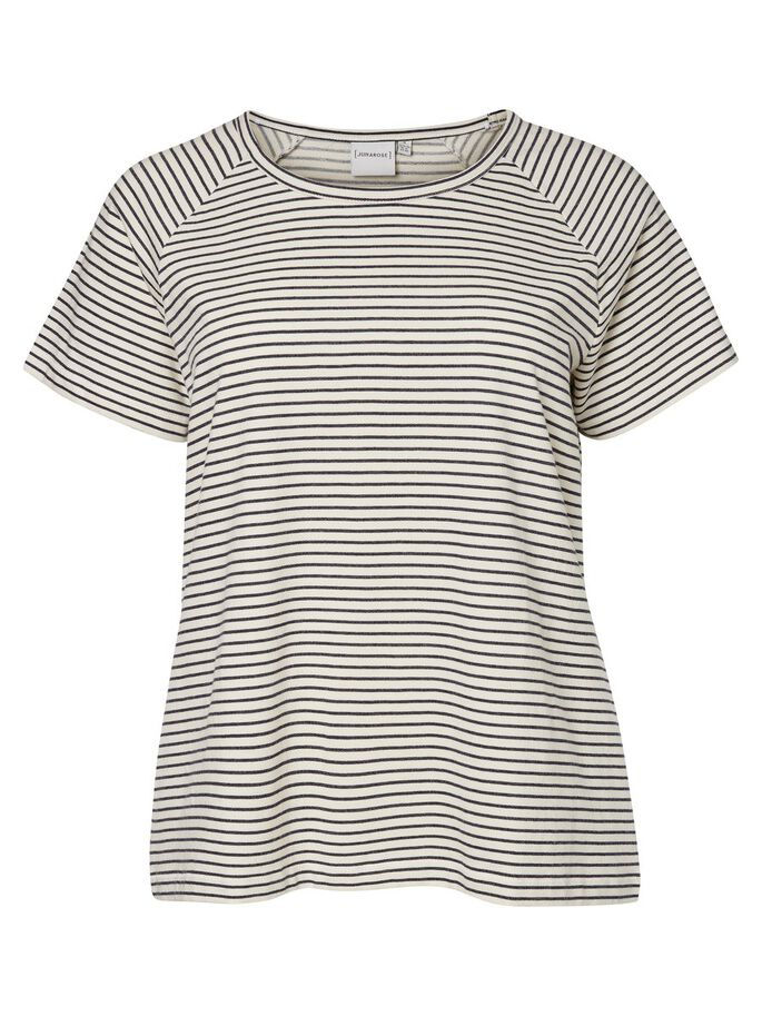 STRIPED SHORT SLEEVED SHIRT, Snow White, large