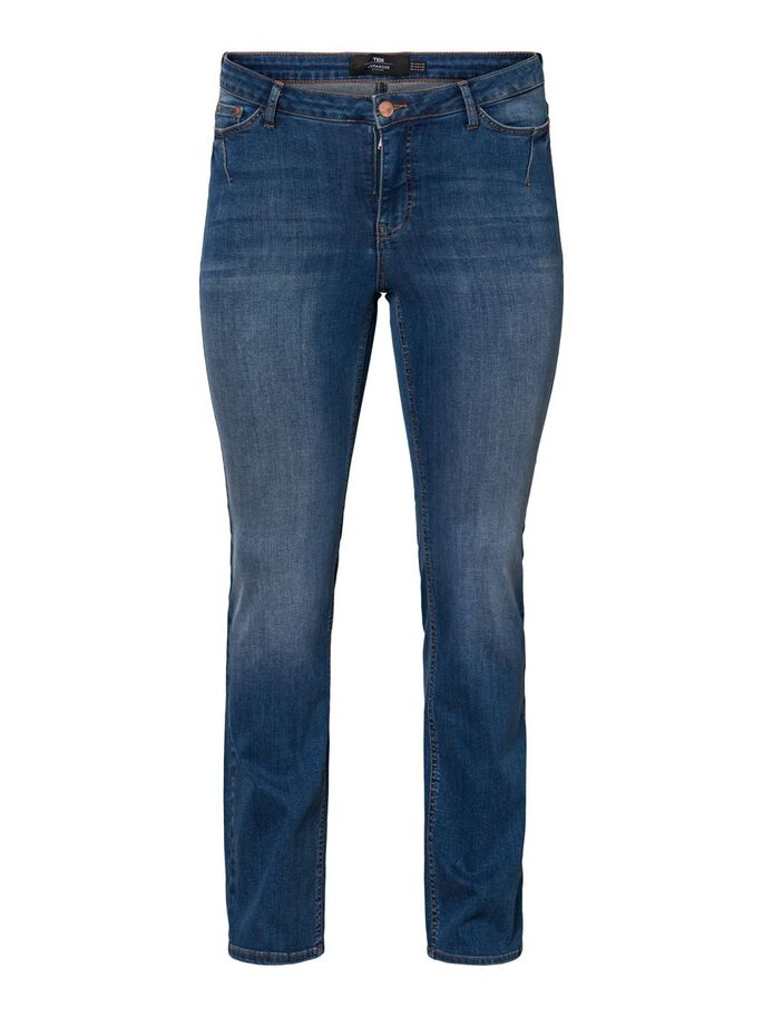 TAILLE CLASSIQUE JEAN SLIM, Medium Blue Denim, large