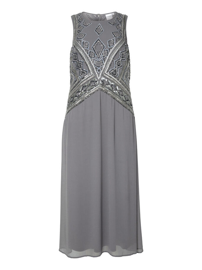 MAXI KJOLE, Pewter, large