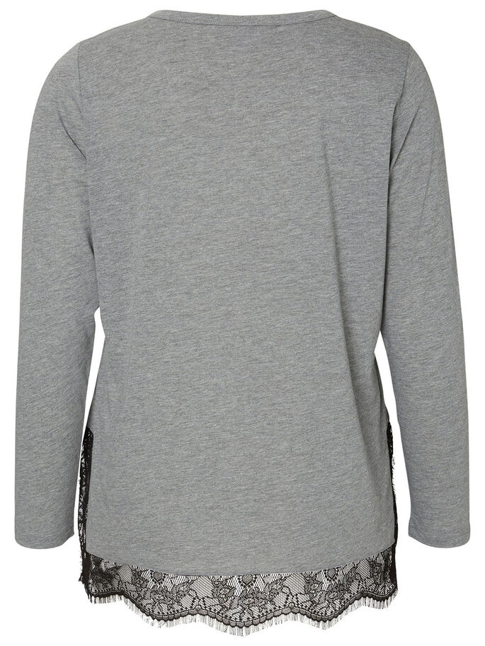 LÅNGÄRMAD BLUS, Medium Grey Melange, large