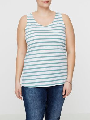 STRIPED SLEEVELESS TOP