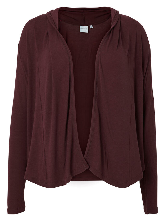 MANCHES LONGUES CARDIGAN, Decadent Chocolate, large