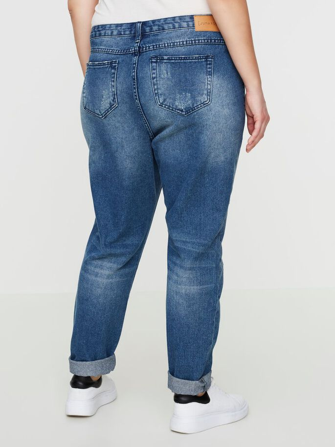 BOYFRIEND JEANS, Medium Blue Denim, large