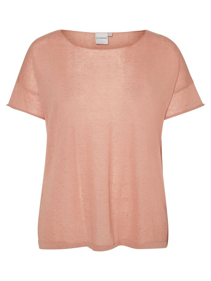 SHORT SLEEVED PULLOVER, Peach Beige, large