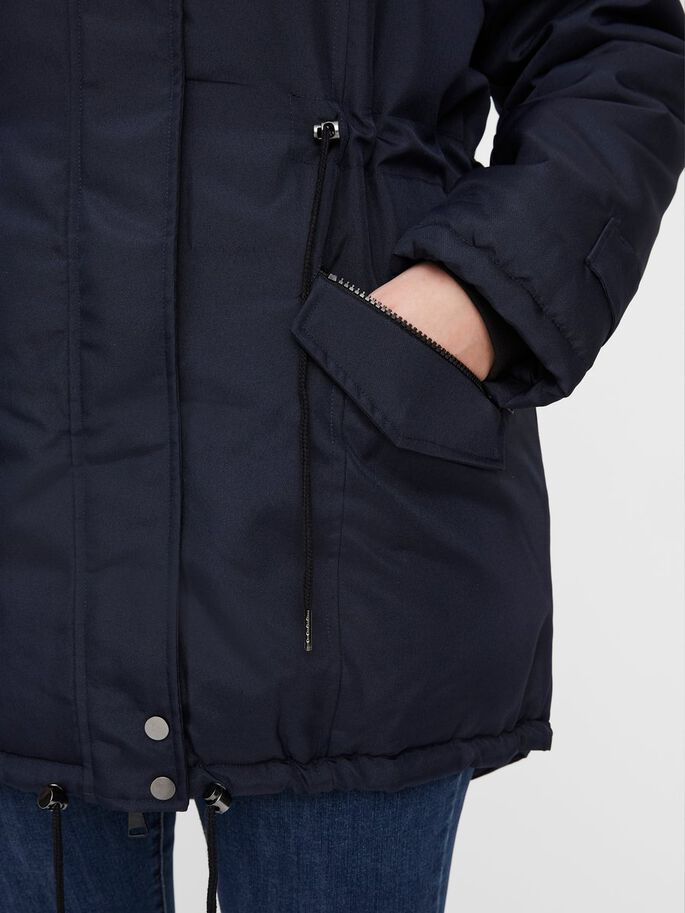 WINTER PARKA COAT, Navy Blazer, large