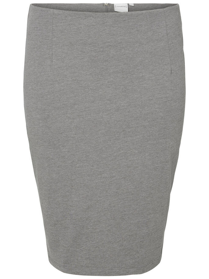 BLYANT SKJØRT, Medium Grey Melange, large
