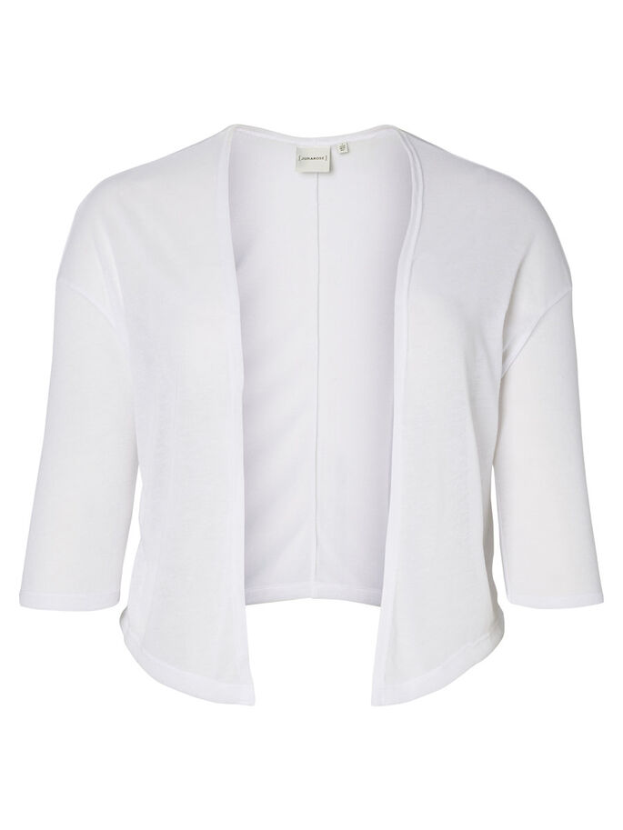 JERSEY CARDIGAN, Bright White, large