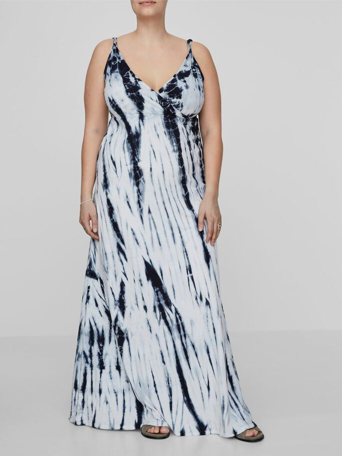 TIE DYE MAXI DRESS, Snow White, large