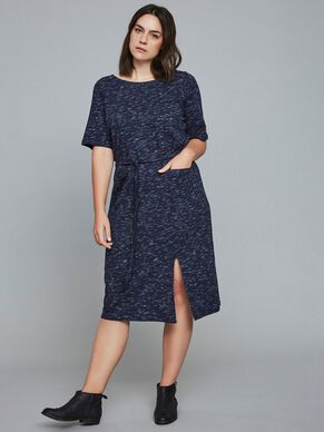 TIE-BELT 2/4 SLEEVED DRESS