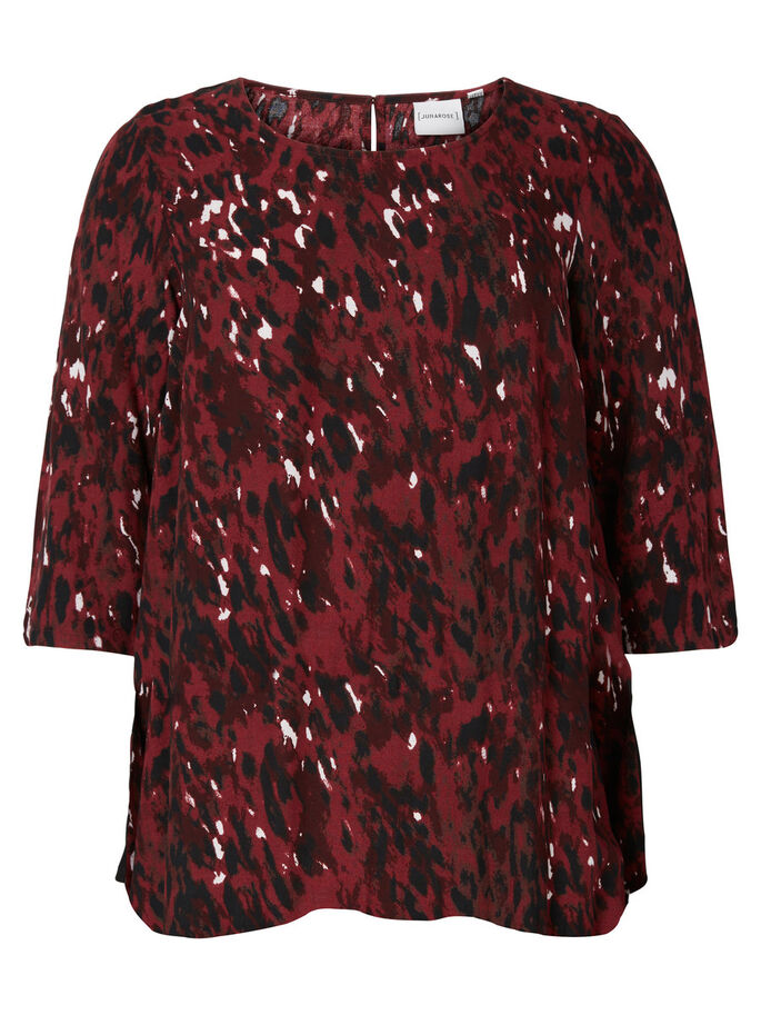 MANCHES 2/4 BLOUSE, Maroon, large